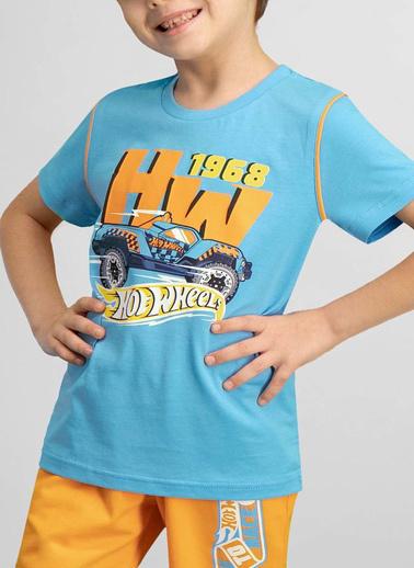Hot Wheels Hot Wheels Lisanslı Erkek Çocuk Bermuda Takım Mavi
